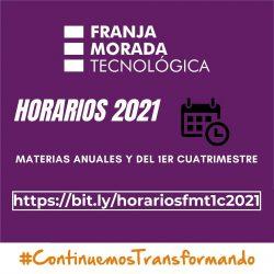Horarios 2021